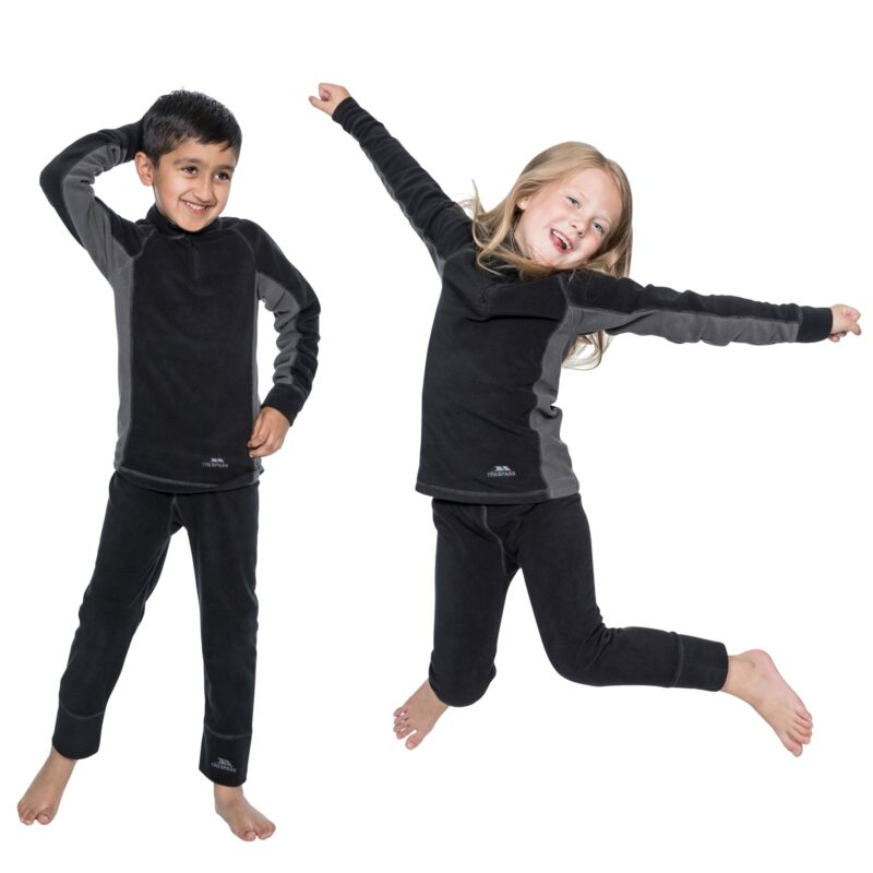 Trespass Bubbles Kids Base Layer Set Boys & Girls Long Sleeve Top and Trousers