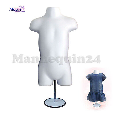 White Mannequin Toddler Torso Wmetal Stand 1938 Hooks For Hanging