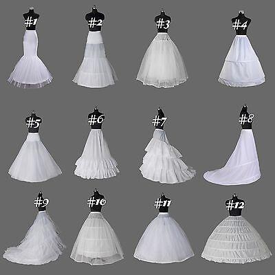 White A Line/mermaid hoop bridal Crinoline/Petticoat/Slips/Underskirt wedding ()