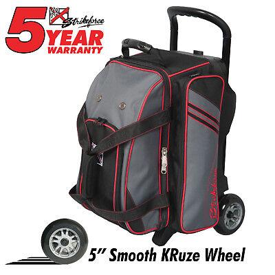 KR LR2 Premium 2 Ball Roller Bowling Bag Color Stone Black/Red