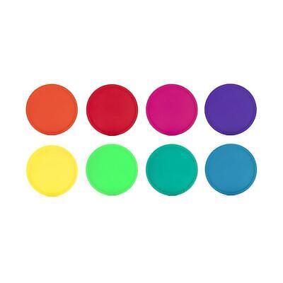 Kikkerland Set of 8 Rainbow Coasters Colourful Party Trivets Tableware Gift Idea