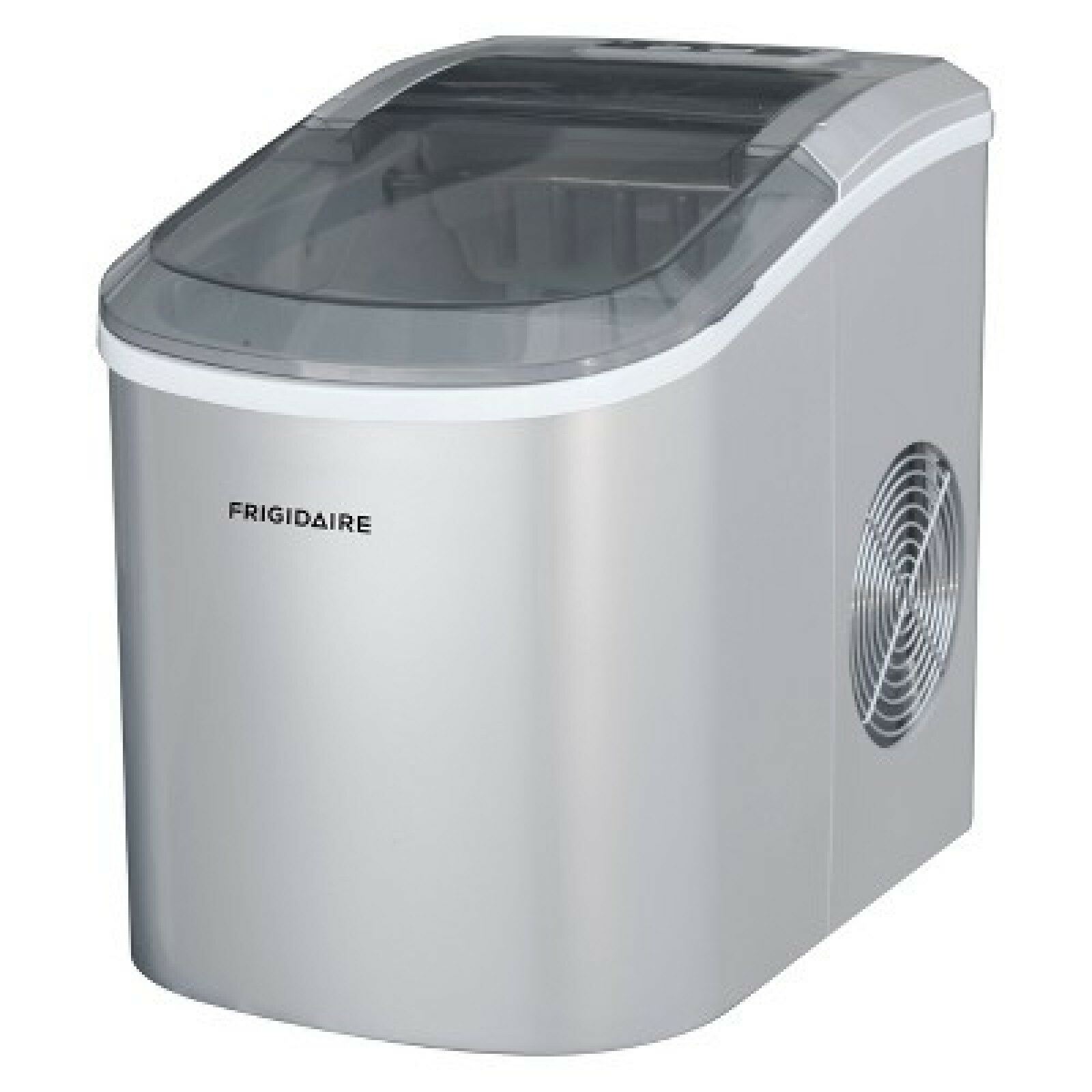 Frigidaire EFIC206-SILVER Ice Maker, 26 lb per Day, See Thro