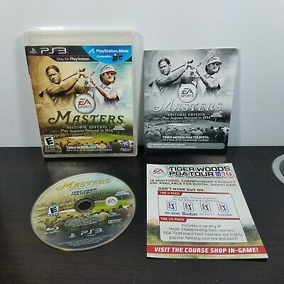 Tiger Woods PGA Tour 14 Masters Historic Edition (Sony PlayStation 3, 2013) PS3