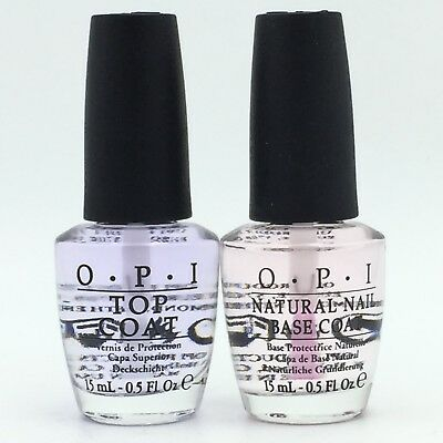 OPI Natural Nail Base Coat and Top Coat 0.5oz