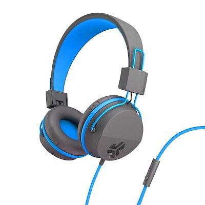 Jlab Audio Neon Wired Headphones Feather Light On-ear Leather 40mm Graphite/Blue](Neon Headphones)