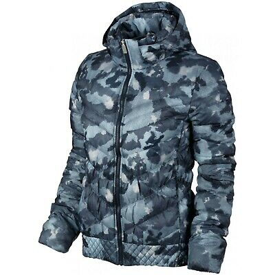 Nike W Cascade 700 Down Fill Camo Printed Jacket Relleno Plumas Chaqueta...
