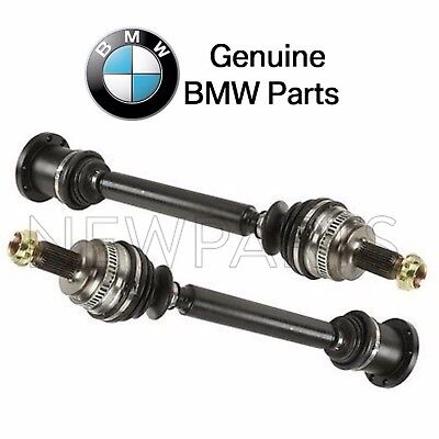 For BMW E46 Pair Set of Rear Left & Right Axle Shaft Assemblies Rebuilt Genuine ()
