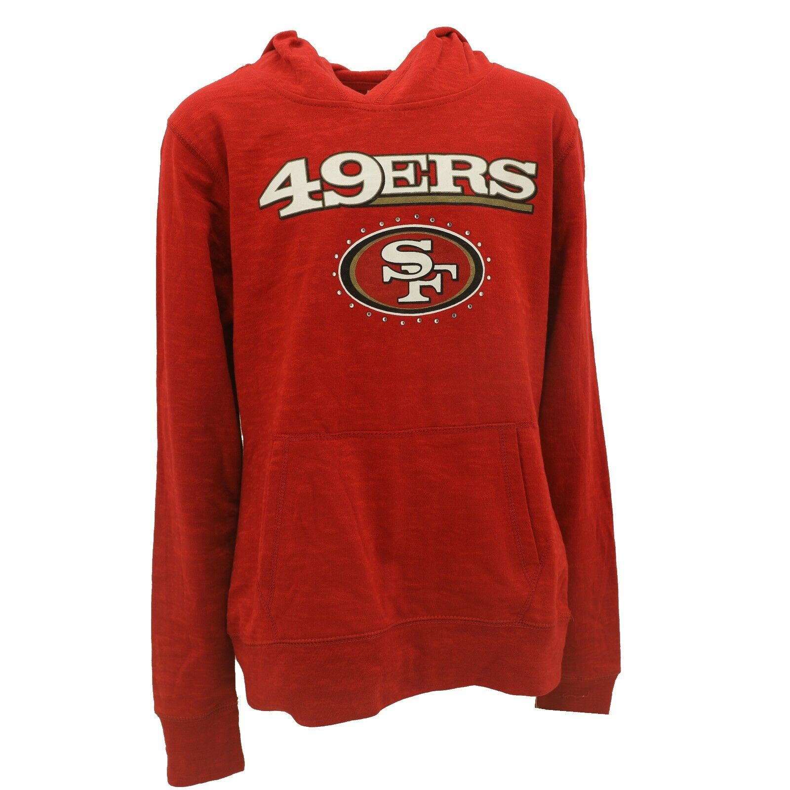 14//16 Performance Hooded Sweatshirt San Francisco 49ers Team Apparel Youth Size Large