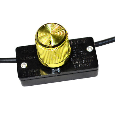 HQRP Universal Dimmer Light Lamp Switch With Rotary Knob 125V 6A