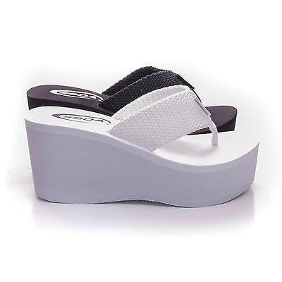 Soda OXLEY-S New Womens Platform Sandals Wedge Heels Thong Flip Flops Shoes