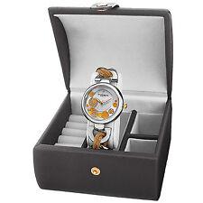 Women's Akribos XXIV AK895TTG-BX Diamond Twist Chain Watch & Jewelry Gift Box Se