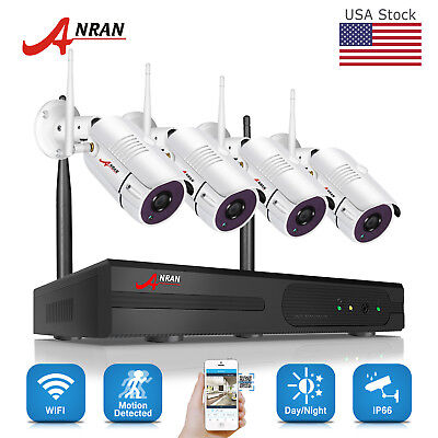 960P 8CH HD Wireless NVR Kits Outdoor Security IP Camera WIFI CCTV System Home