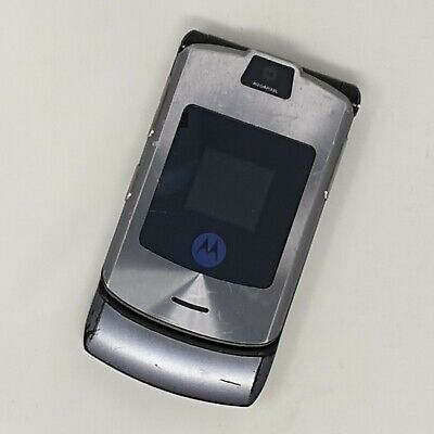 Motorola RAZR V3 - Flip Phone - Grey - Working Condition - Tesco - Fast P&P