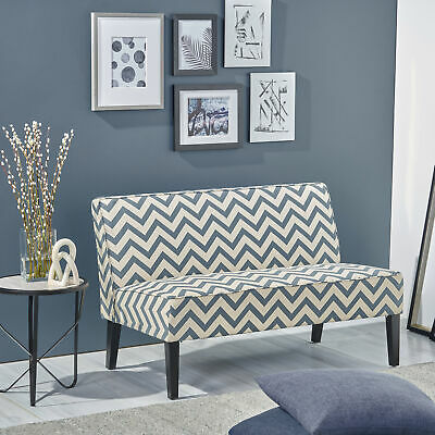 Charlotte Modern Simple Elegant Fabric Loveseat