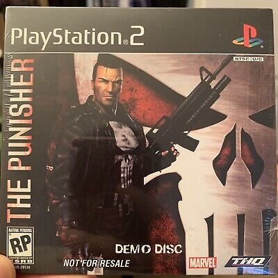 PlayStation 2 The Punisher Demo Disc 2004 THQ Marvel SLUS-29138 PS2 SEALED RARE