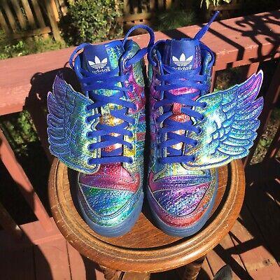 US Size 6.5 Adidas Originals Jeremy Scott Rainbow Hologram Wings 1.0 (Jeremy Scott Rainbow)