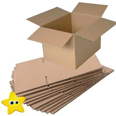 10 LARGE REMOVAL STORAGE CARDBOARD BOXES 22x14x14