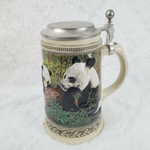 Gerz Germany World Wildlife Fund Support Panda Bear 3D Stein