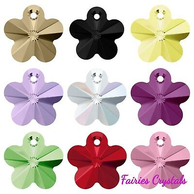 6744 Swarovski® Flower Beads 12mm & 14mm 2pcs or mixed 9 pcs (10 Colours!!) 🇬🇧