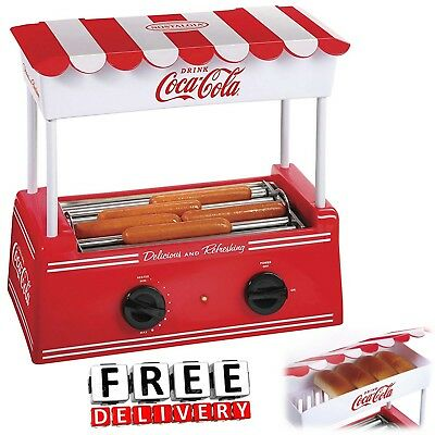 Hot Dog Roller Bun Warmer Adjustable Nostalgia Heat Machine Cooker Grill Retro