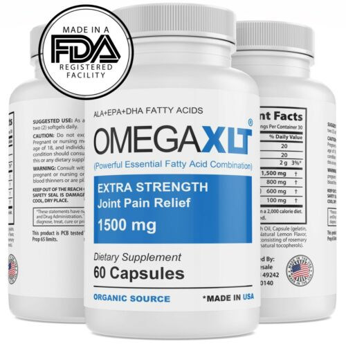 Omega XLT Extra Strength Joint Support Omega-3 Potent Joint Pain Relief 60ct