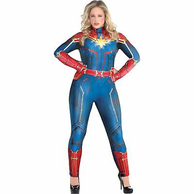Light-Up Captain Marvel Halloween Costume for Women, Plus Size, Dress Size 18-20