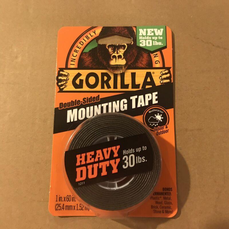 "Gorilla Glue 6055001-6 Double-Sided Heavy Duty Mounting Tape , 1"" x 60"", Black"