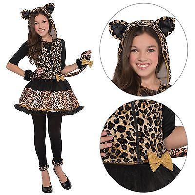 Kids Sassy Spots Leopard Jungle Big Cat Wild Fancy Dress Girls Costume - Wild Cat Girl Kostüm