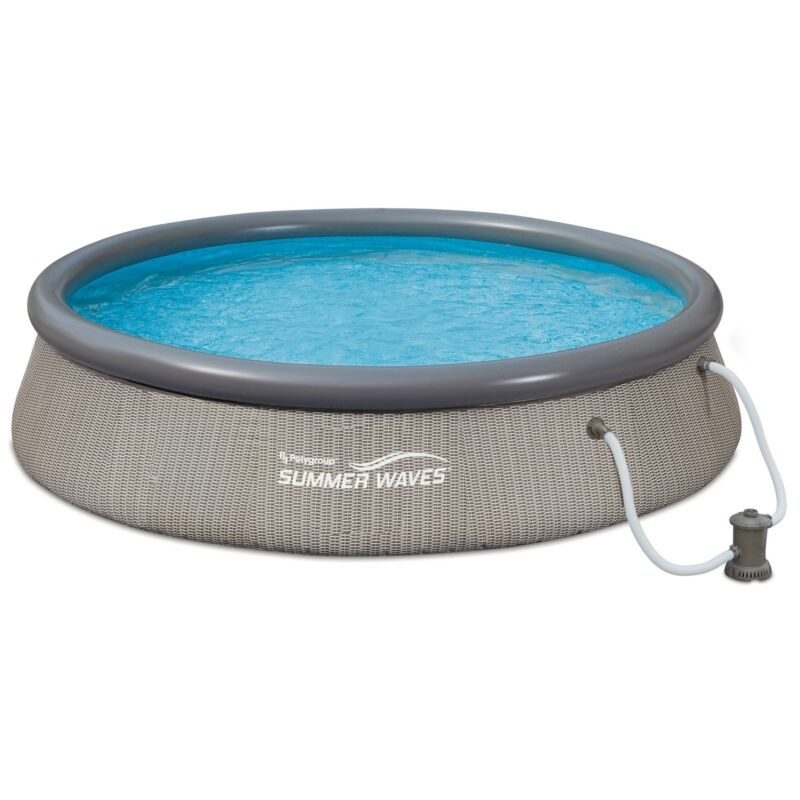 """Summer Waves Quick Set 12' x 36"""" Inflatable Above Ground Pool with Pump (Used)"""