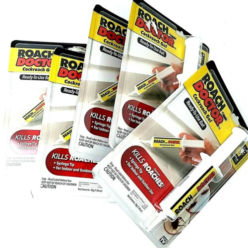 LOT of 5 NEW Roach Doctor Cockroach Gel BulbHead Pest Bait Control Syringe NIB