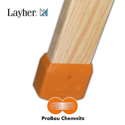 Layher 2 Paar Leiterschuhe für Holzleiter, Leiterschuh Leiterzubehör NEU, 4 Stk.