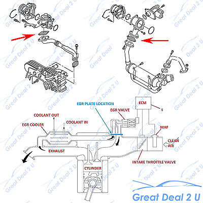 ford f 350 emissions diagram egr blanking plate for nissan patrol gu zd30 common rail #3