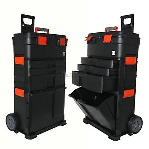 New Mobile Roller Work Shop Chest Trolley Cart Storage Tool Box Toolbox On Wheel