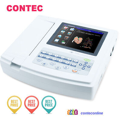 Fda Digital 12-lead 12-channel Electrocardiograph Ecgekg Machine Interpretation