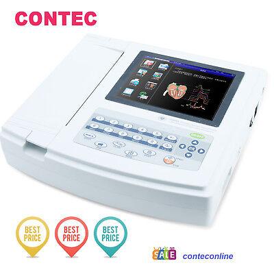 Contec Ecg1200g Digital 12 Channellead Ekgpc Sync Software Electrocardiograph