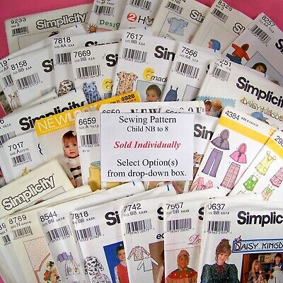 Simplicity Sewing Pattern Girl Boy Child - Uncut Factory Fold  SOLD -