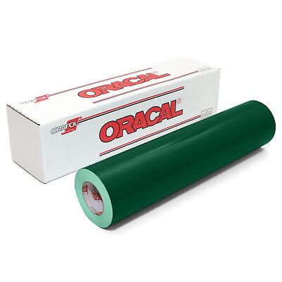 ORACAL 651 Outdoor Permanent Vinyl - DARK GREEN 12in x 10ft Roll
