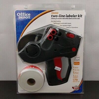 Office Depot Od202 Monarch 1136 Pricing Gun Two Line Labeler Kit With Labels