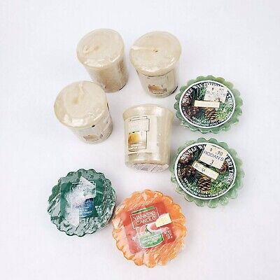 Yankee Candle Tea Light Wax Melt Votive Candles Bundle Vanilla Pine Guava Coco