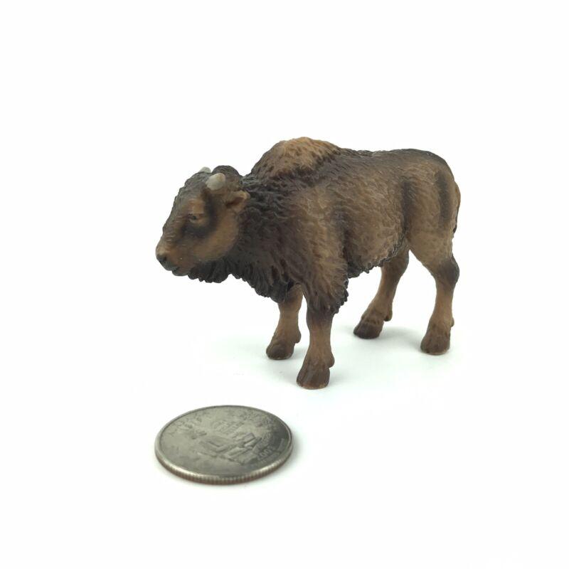 Schleich Brown American Buffalo Bison Calf Baby 2004 Animal Figure 14350