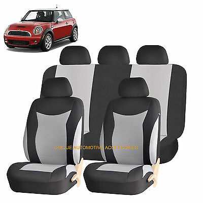 GRAY SPEED AIRBAG COMPATIBLE SEAT COVER SET for MINI COOPER