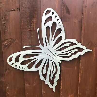 STEEL Metal LARGE BUTTERFLY Garden Ornament decoration feature sign rustic