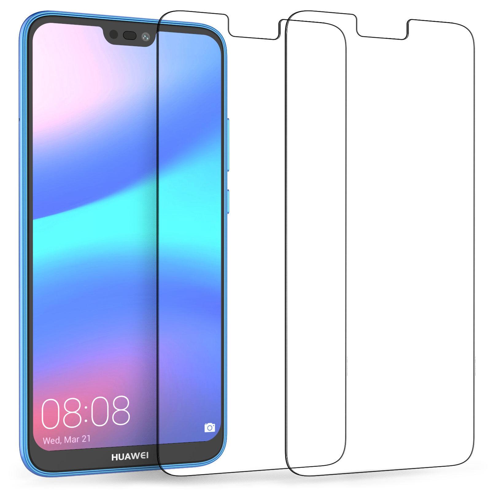 Black Color : Black GzPuluz Glass Protector Film 25 PCS Full Screen Full Glue Anti-Fingerprint Tempered Glass Film for Huawei Mate 20 Lite