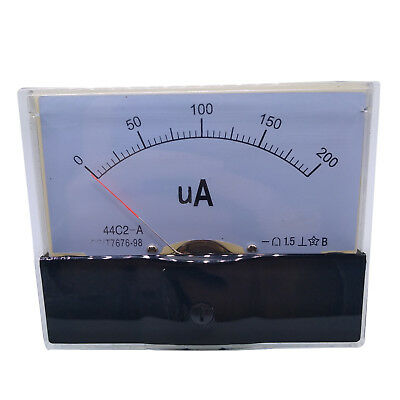 Us Stock Dc 200ua Class 1.5 Accuracy Analog Amperemeter Panel Meter Gauge 44c2