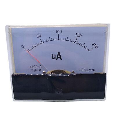 Us Stock Dc 200ua Class 1.5 Accuracy Analog Amperemeter Panel Meter Gauge 44c2