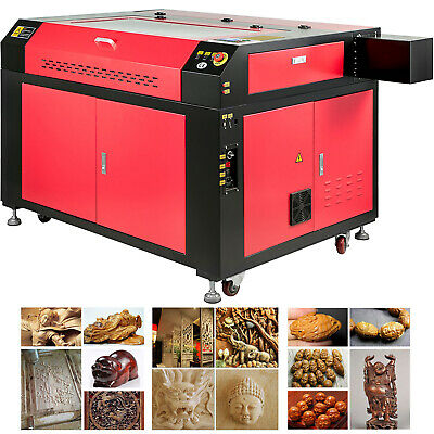 Vevor 100w Co2 Laser Engraving Cutting Machine With Ruida Panel Usb Disk U-flash