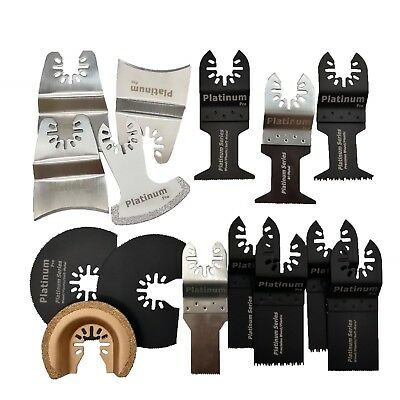 15 Pc Saw Blade Oscillating Multitool Fits Porter Cable Black Decker Dewalt