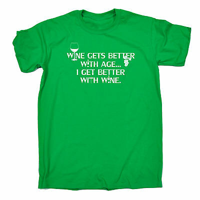 Age Gets Better With Wine (Wine Gets Better With Age MENS T-SHIRT tee birthday gift beer booze wino)
