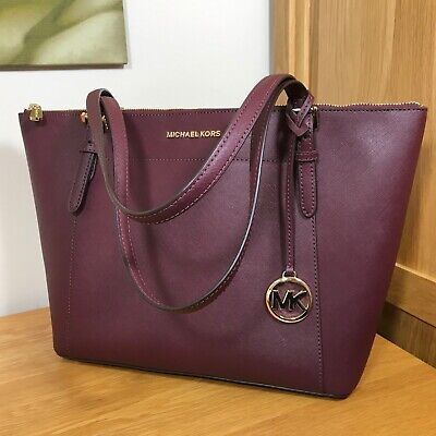 Hardly Used MICHAEL KORS *Ciara* Saffiano Merlot Leather Tote Bag *RRP £250*