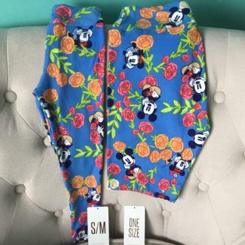 LuLaRoe Disney Minnie Mickey Mouse OS & Kids S/M Leggings Mommy & Me